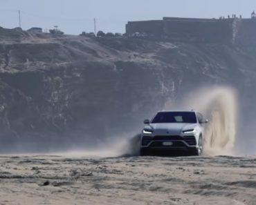 "Lamborghini Urus ""Surfa"" Areias Da Praia Da Nazaré 2"