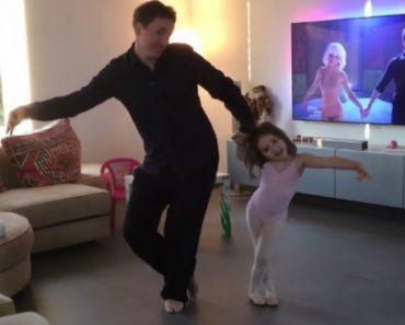Pai e Filha Filmam o Mais Adorável Momento De Dança 6