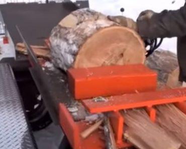 Com Esta Máquina Cortar Lenha Nunca Mais Será Um Trabalho Pesado 7