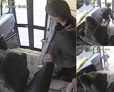 Motorista De Autocarro Escolar Com Incríveis Reflexos Salva Aluno De Atropelamento 4