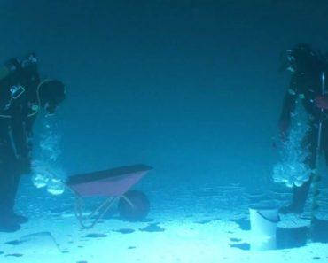 Mergulhadores Fazem Vídeo Muito Intrigante Dentro De Lago Congelado e De Cabeça Para Baixo 3