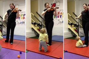 Bebé Fica Fascinado Ao Ouvir Violino Pela Primeira Vez 10
