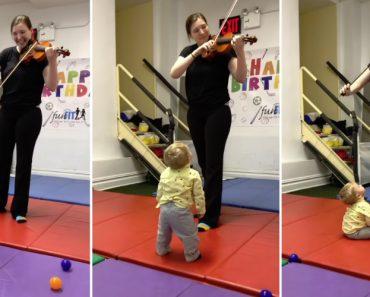 Bebé Fica Fascinado Ao Ouvir Violino Pela Primeira Vez 2