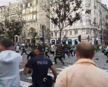 Adeptos Ingleses Causam Distúrbios No Porto e Polícia é Forçada a Intervir 3