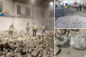 Polícia Encontra Cerca De Uma Tonelada De Cocaína Em Falsas Pedras 9