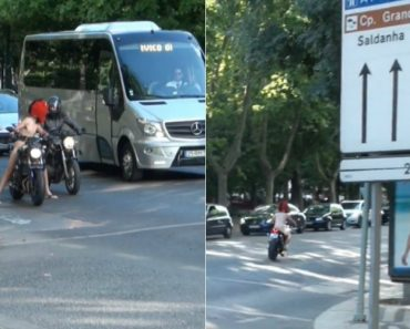 Motociclista Circula Todo Nu Na Avenida Da Liberdade Em Lisboa 5