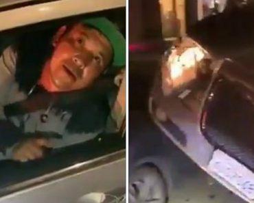 Automobilista Passa Por Cima De Outro Carro e Tenta Convencer Em Vão Que Não Está Embriagado 5