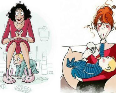 22 Ilustrações Divertidas Que Mostram o Que Realmente é Ser Mãe 4