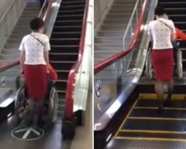 No Japão Os Utilizadores De Cadeira De Rodas Também Usam As Escadas Rolantes 7